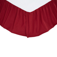 Solid Red Bed Skirt
