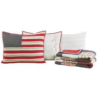 Victory Pillow Shams & Pillow Cases with Folded Quilt