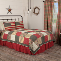 Victory 3 Pc Quilt - Quilt-2 Shams-2 Pillowcases