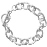 Karine Sultan Chunky Silver Bracelet