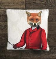 Fox Hunter on Red Jacket Pillow Sham