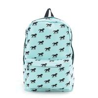 Horse Backpack in Aqua Blue/Green