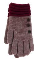Heather Burgundy with Burgundy Cuff Glove