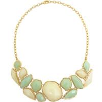 Green & Cream Bib Necklace