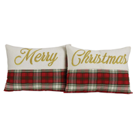 Merry Christmas Set of Two Toss Pillows