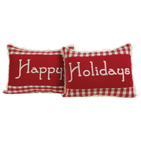 Happy Holiday Pillow Set of Two