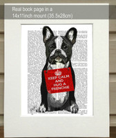 Hug a Frenchie Print - Matted as shipped