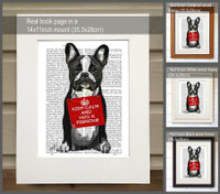 Hug a Frenchie Print - Shown in frames