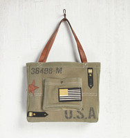 Maverick Military Canvas Tote Bag