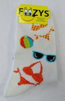Bikinis & Sunglasses Crew Socks-White