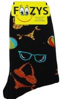 Bikinis & Sunglasses Crew Socks-Black