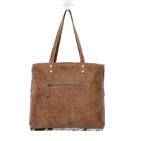 Patchwork Hairon Leather Tote Bag Reverse