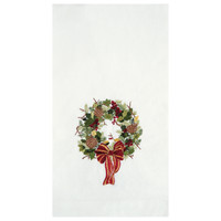 Artist Designed Christmas Wreath Guest Towel