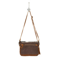Carpet & Cowhide Messenger Bag Reversed