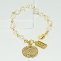 Lima Gold Charm Waterpearl Bracelet