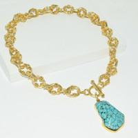 Karine Sultan Eloise Turquoise Pendant Necklace