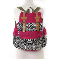 Classic Gothic Fuchsia Canvas Backpack