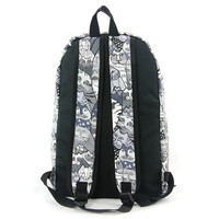 Grey Cat Canvas Backpack Reverse