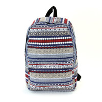 Elephant Trim Canvas Backpack