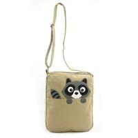 Peeking Raccoon Large Messenger Bag