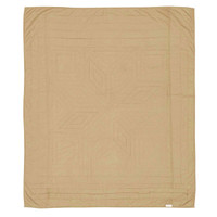Dakota Star Quilted Primitive Throw Reverse