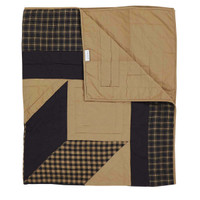 Dakota Star Quilted Primitive Throw Folded Back