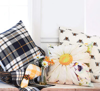 Bumble Bee Toss Pillow in back