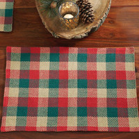 Reed Plaid Placemats Set of Six
