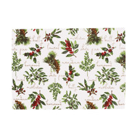 Winter Botanical Retangular Placemats - Set of Six