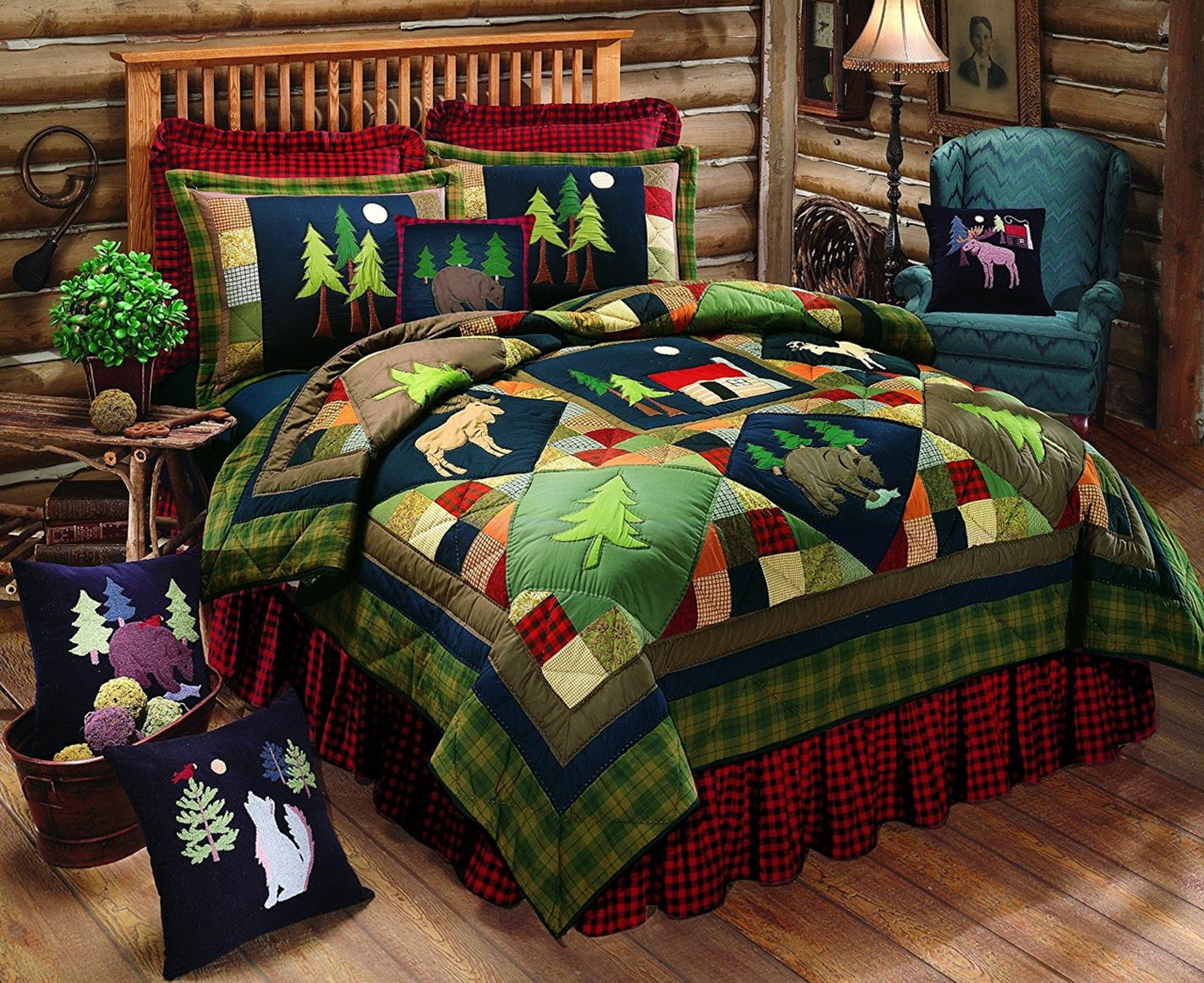 Timberline Quilted Lodge Style Pillow Sham 100/% Cotton Matches Timberline Quilt