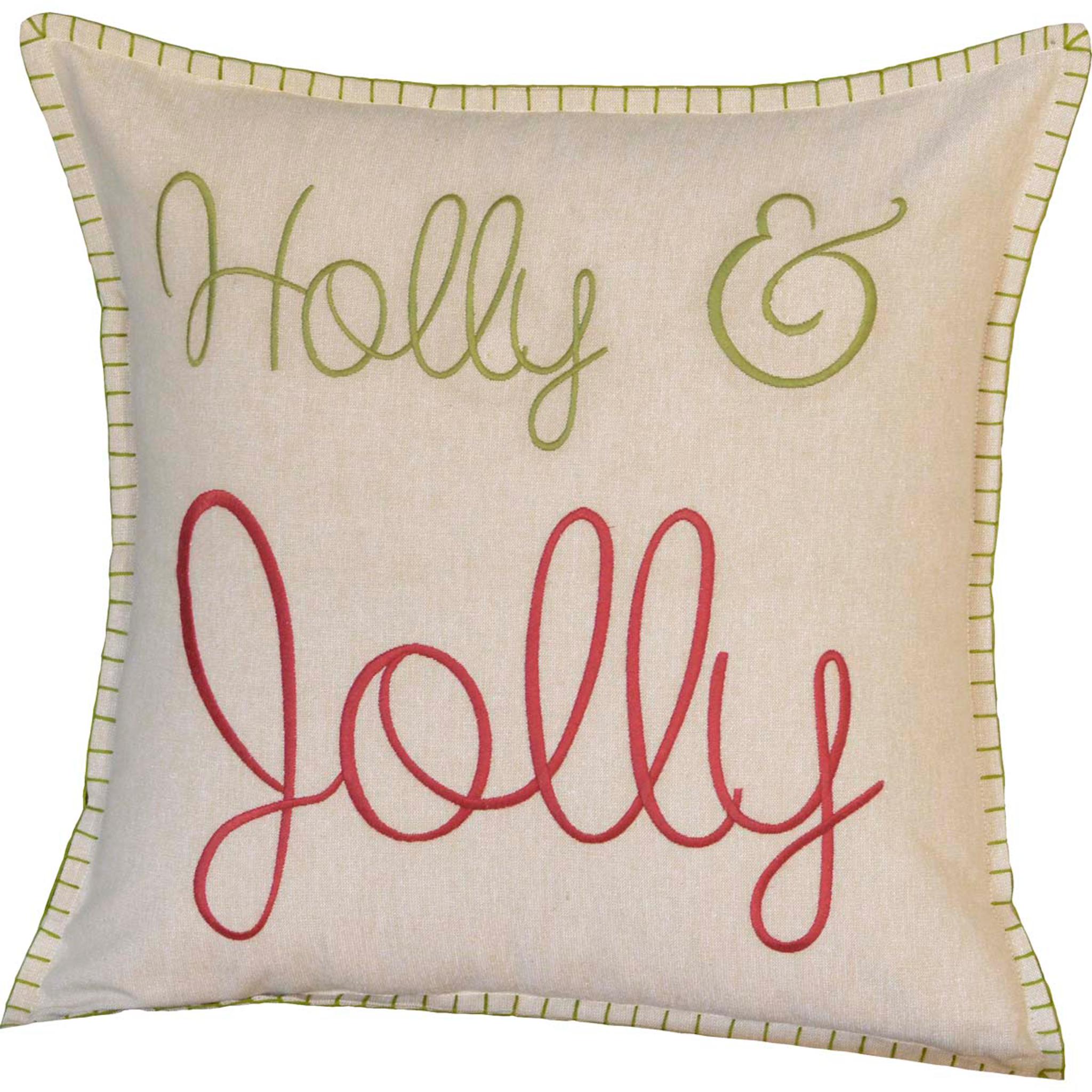 Holly Jolly Christmas Toss Pillow