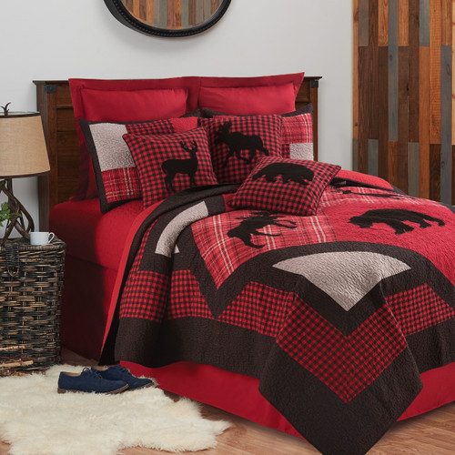 Russell Lodge 3 Pc Quilt Set