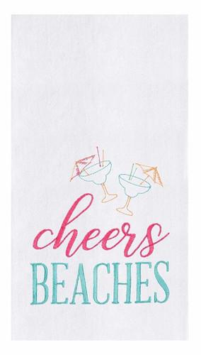 Cheers Beaches Flour Sack Kitchen Towel