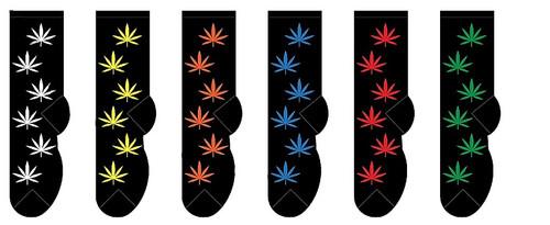 FOOZYS Men's Cannabis Socks - Two Pairs