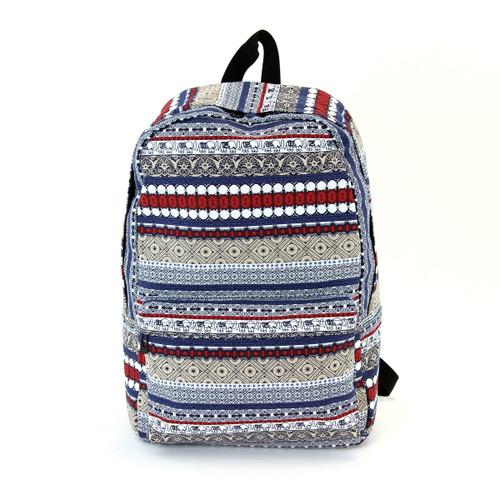 Elephant Trim Canvas Backpack