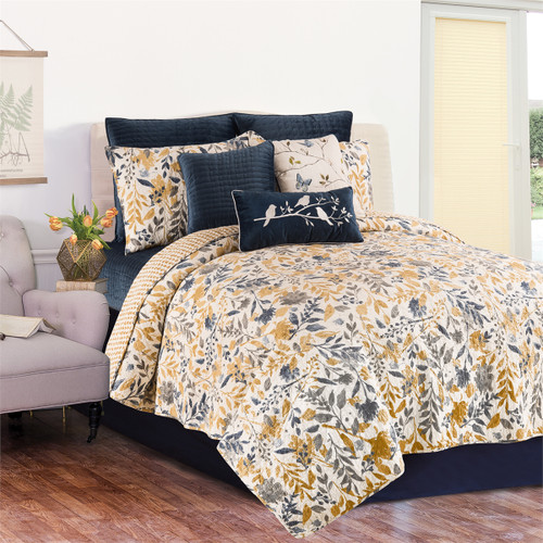 Natural Home 3 Pc Queen or King Quilt Set