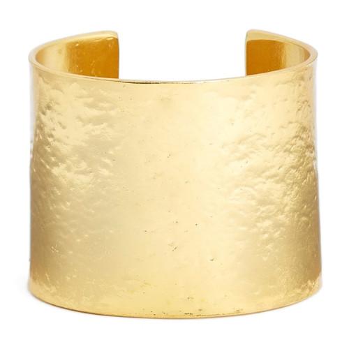 Karine Sultan Crumpled Foil Gold Cuff Bracelet