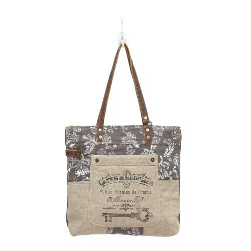 Old Key Linen Tote Bag