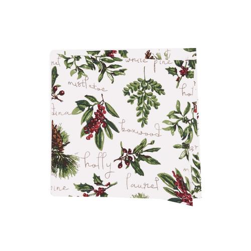 Winter Botanical Fabric Napkin - Set of Four