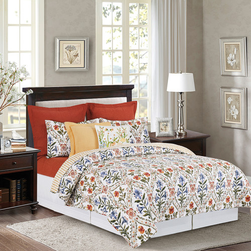 Isabelle Queen or King 3 Pc Quilt Set