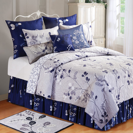 Geneva Silver Amp Blue Quilt Collection For Sale Sweethaven Home