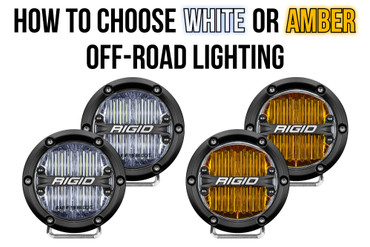 How to Choose Between White and Amber Off-road Lighting