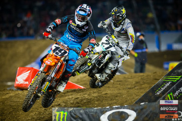Tough Night for Baggett, Bogle at Anaheim 2 SX | SoCal SuperTrucks Supported Team RockyMountain ATV/MC Race Report