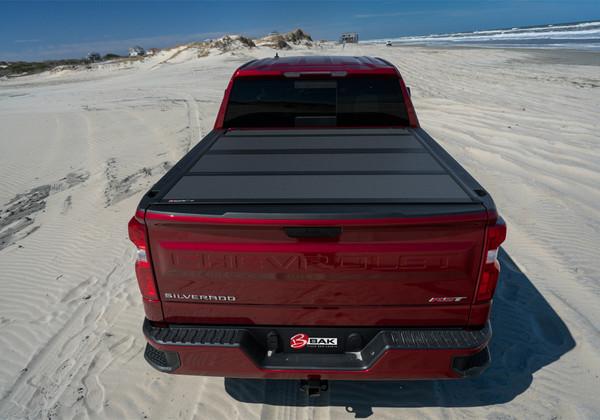 Bak Bakflip Mx4 Hard Folding Truck Bed Cover Matte Finish 2020 Chevy Silverado Gmc Sierra 2500 Hd 3500 Hd 6ft 10in Bed