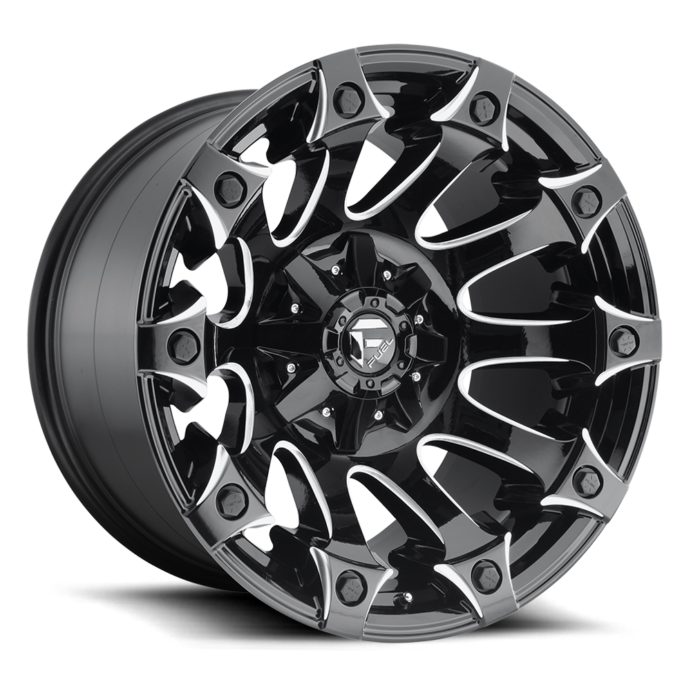 D578 - BATTLEAXE Gloss Black & Milled