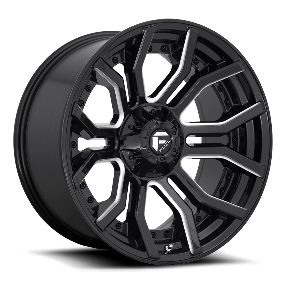 D711 - RAGE Gloss Black & Milled