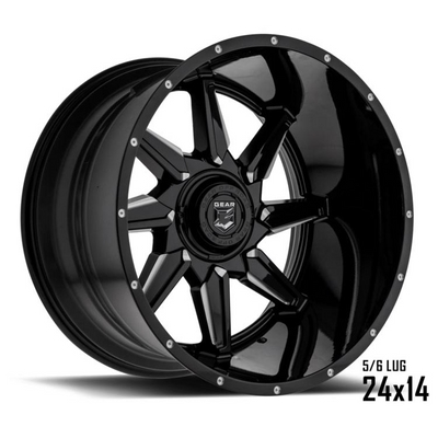 751 - Wrath Gloss Black w/ CNC Milled Accents