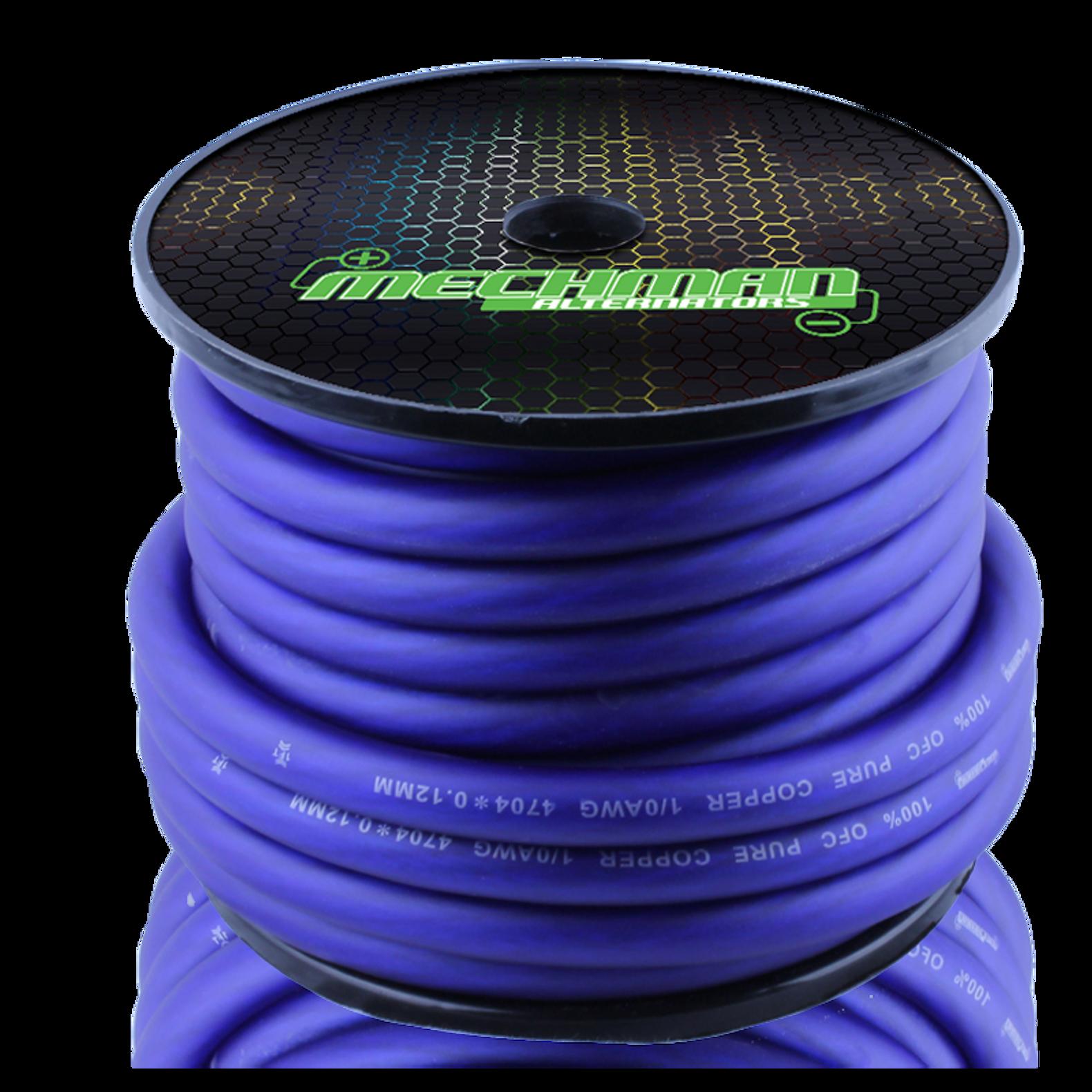 1 0 gauge ofc power cable 50 foot spool blue ssa store rh store soundsolutionsaudio com