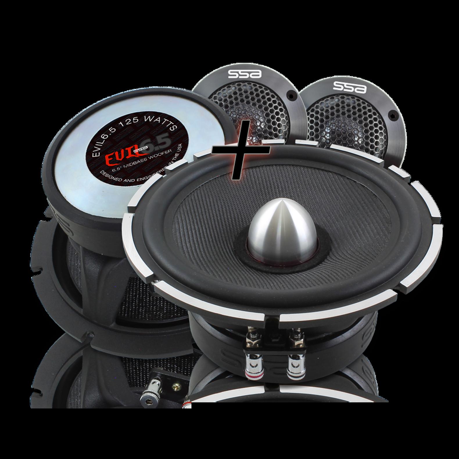 1 Surface Mount Silk Dome Tweeter 150W 4 Ohm Neodymium American Bass SQ T1