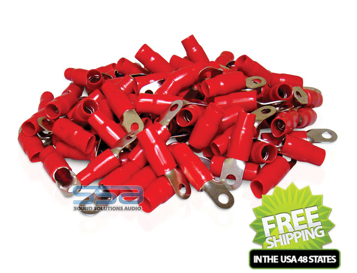 XP FLEX 0 AWG 100PK 8.5mm Ring Terminals Red Boot